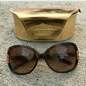 Tory Burch T hinge oversized sunglasses